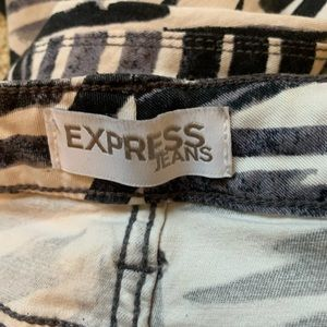 Express Jeans - Express Low Rise Ankle Regular Fit Print Jeans 👖